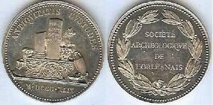 Jeton-ORLEANS-societe-archeologique-Orleanais-silver-corne-12-grannes-d-31mm
