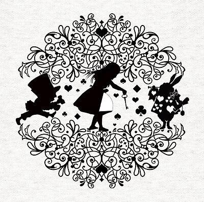 Alice In Wonderland Silhouette Fabric