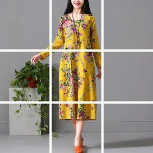 Long-V-Neck-Loose-Evening-sundress-Casual-Dresses-Floral-Dress-Maxi-summer