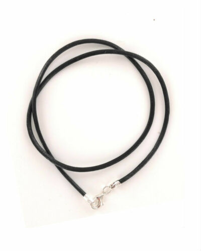 2mm  Genuine Leather Necklace Cord with Sterling Silver Clasp 14-20 inches