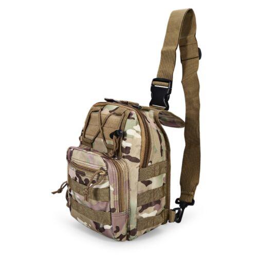 Men Backpack Molle Tactical Sling Chest Assault Pack Messenger Shoulder Bag New