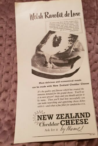 New Zealand Cheddar Cheese 1955 Advertisement