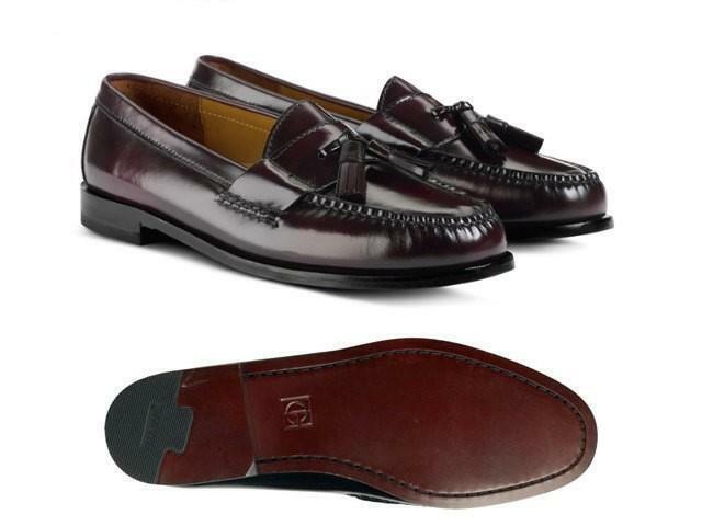 Cole Haan para hombre 9 D Pinch Borla Borgoña Cuero Mocasines zapatos 03507  envío rápido