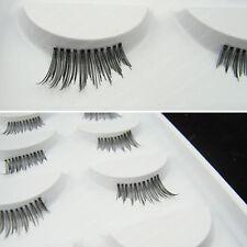 5 Pairs Black Corner / Mini / Half False Eyelashes Cross Makeup Fake Eye Lashes