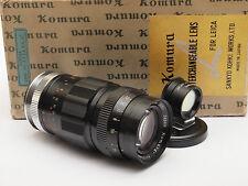 Komura 105mm F3.5 LTM Leica M39 Lens Boxed with Finder Stock No u4795