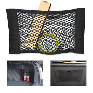 universal car truck seat rear pocket storage organizer net bag w magic tape 702142552927 ebay. Black Bedroom Furniture Sets. Home Design Ideas