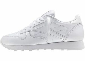 Reebok Mens Classic Leather Sneaker Casual Shoes White New Sizes 6.5 ... ea7f0480a