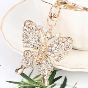 Crystal-Butterfly-Jewelry-Keychain-Women-Key-Holder-Chain-Ring-Car-Bag-Pendan-ne