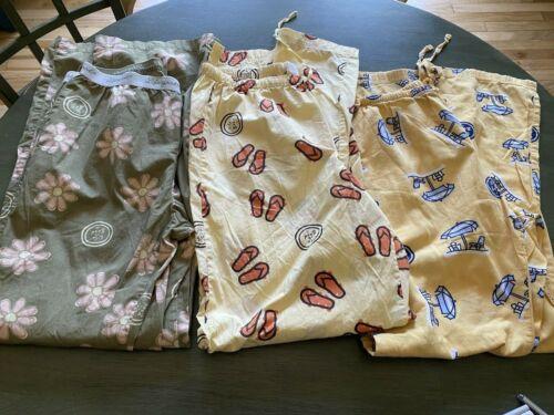 Lot of 3 Life is good womens pajamas PJ's size me… - image 1