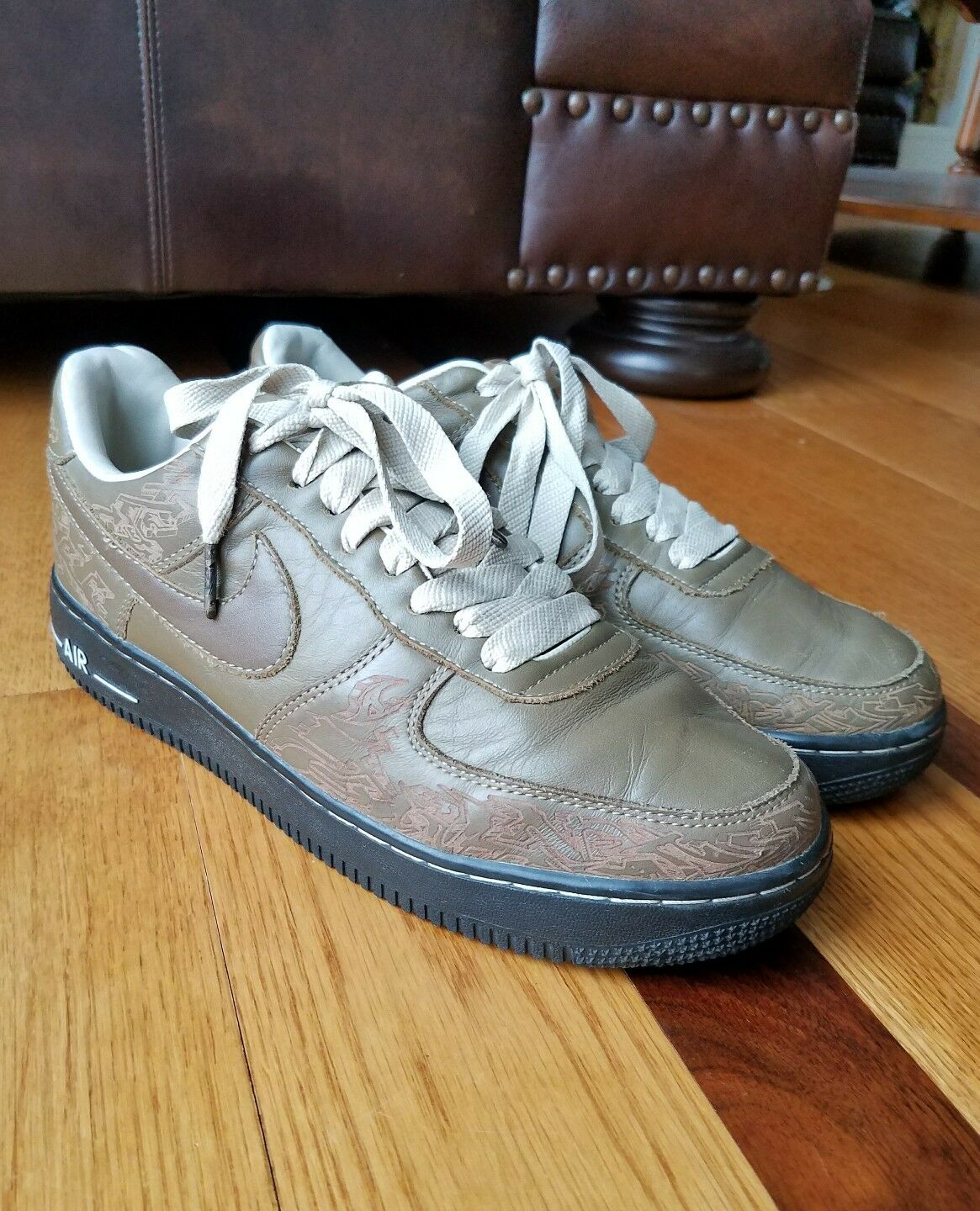 Vintage 2003 NIKE AIR Pack FORCE 1 Premium Laser Pack AIR Stephan Maze Georges Size 10 29f604