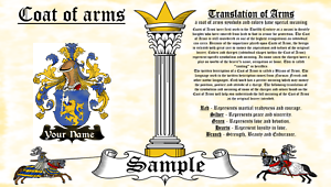 Landias-Lanuis COAT OF ARMS HERALDRY BLAZONRY PRINT