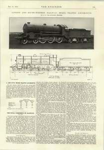 1914 Lswr Next Traffic Locomotive Schilowsky Gyroscopic Monorail - Jarrow, United Kingdom - If for any reason you are not satisfied with your item, do let us know. If you wish to return it, you may, within 14 days, and we will issue you with a full refund. Most purchases from business sellers are protected by the Consume - Jarrow, United Kingdom