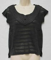 Aeropostale Loose Knit Charcoal Gray Top W/tags