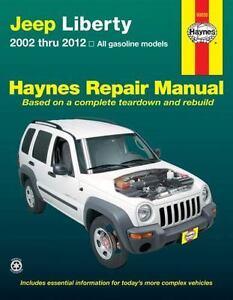2002 2012 jeep liberty haynes repair service shop workshop manual rh ebay com 2003 jeep liberty workshop manual jeep liberty kj workshop manual