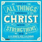 2017 I Can Do All Things Through Christ Wall Calendar 9781622268665