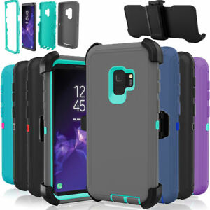 For-Samsung-Galaxy-S9-Case-Cover-Rugged-With-Belt-Clip-Fits-Otterbox-Defender