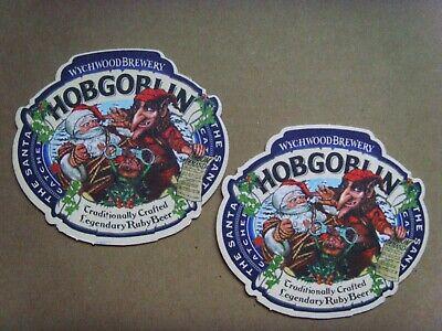 WYCHWOOD BREWERY HOBGOBLIN X 2 ROAD TRIP BEER MATS COASTERS NEW