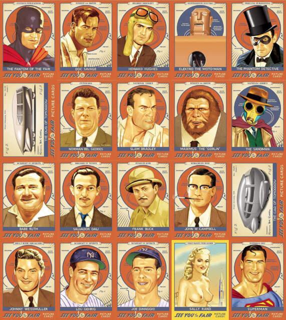 See You At the Fair 1939 NY Worlds Fair Doc Savage Elektro Sally Rand card set