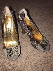hakken hardware maat pumps paars dierenprint grijs Stoute aap schoenen 7m 8PXkn0wO