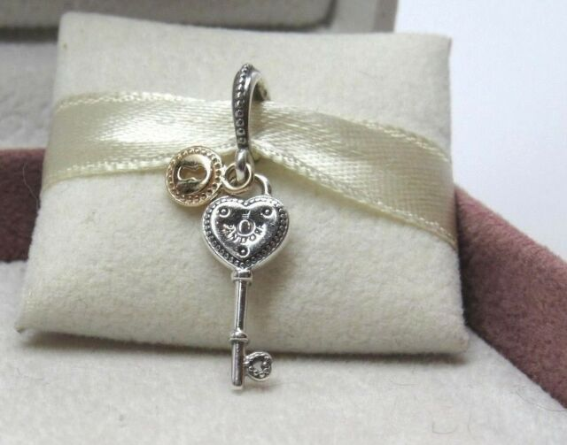 153eb716d PANDORA Key to My Heart Dangle Charm 796593 for sale online | eBay