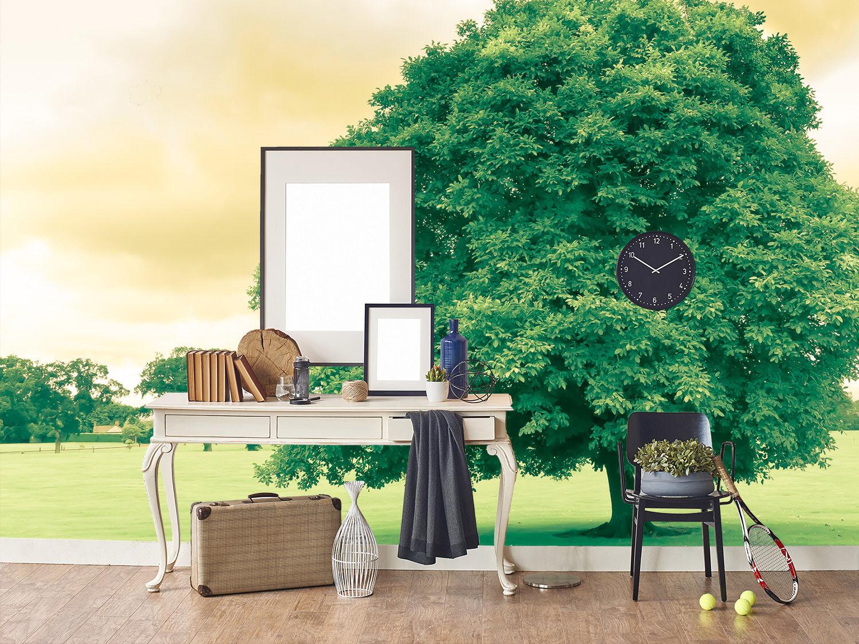 3D Grüner Laub Baum 85 Tapete Wandgemälde Tapete Tapeten Bild Bild Bild Familie DE Summer    Clever und praktisch    Mittel Preis    Verkaufspreis  a9ad92