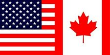 Wholesale Lot of 6 USA Canada Canadian friendship Decal Bumper Sticker