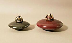 2 Boîtes-toupie à tabac ou épices, Inde XIX-XX ème siècle. Art Asie. Sculpture.