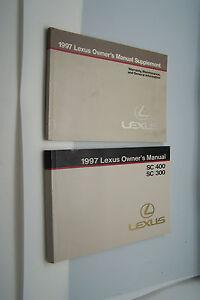 1997 lexus sc300 sc400 owners manual service book original new ebay rh ebay ie 94 Lexus ES300 Service Manual Lexus ES