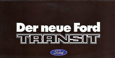 Aufstrebend Ford Transit Prospekt 1978 Brochure Auto Pkws Deutschland Broschüre Europa Um Jeden Preis