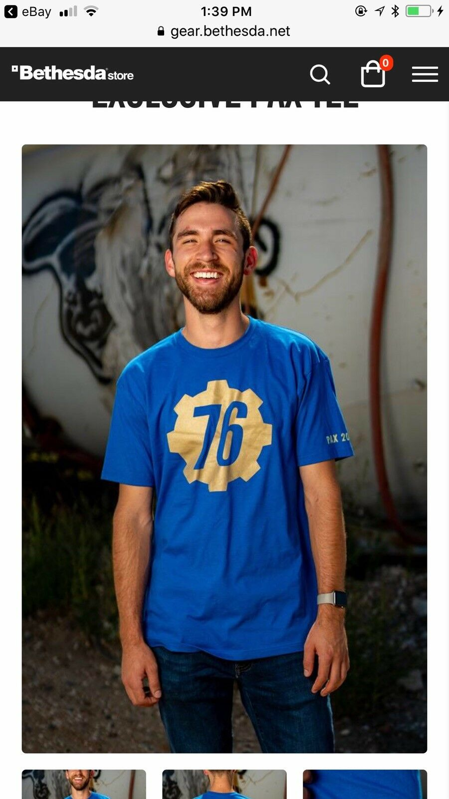 PAX FALLOUT 76 gold Logo Tee shirt 3XL. NEW SEALED