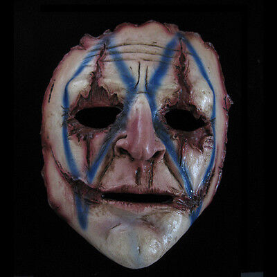 Killer Evil Clown Half Latex Adult Scary Halloween Gholish Mask