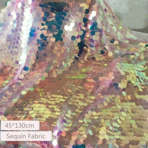 Laser Sequin Fabric Bling Shiny Mermaid Scale Wedding Crafts Backdrop Cloth Soft