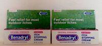 2 Benadryl Tropical Analgesic/skin Protectant Itch Cream Net Wt 1 Oz Ea