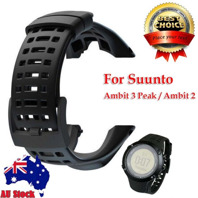 Luxury Rubber Watch Replacement Band Strap for Suunto Ambit 3 Peak / Ambit 2 AU