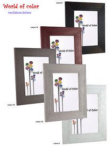 Cornici legno 751 porta foto da muro colorata bianco nero cornice quadri poster ebay - Cornici foto da parete ...