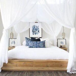 434ceb4700f6a Bedding Cotton Square Mosquito Net 4 Post Canopy Bali Super King ...