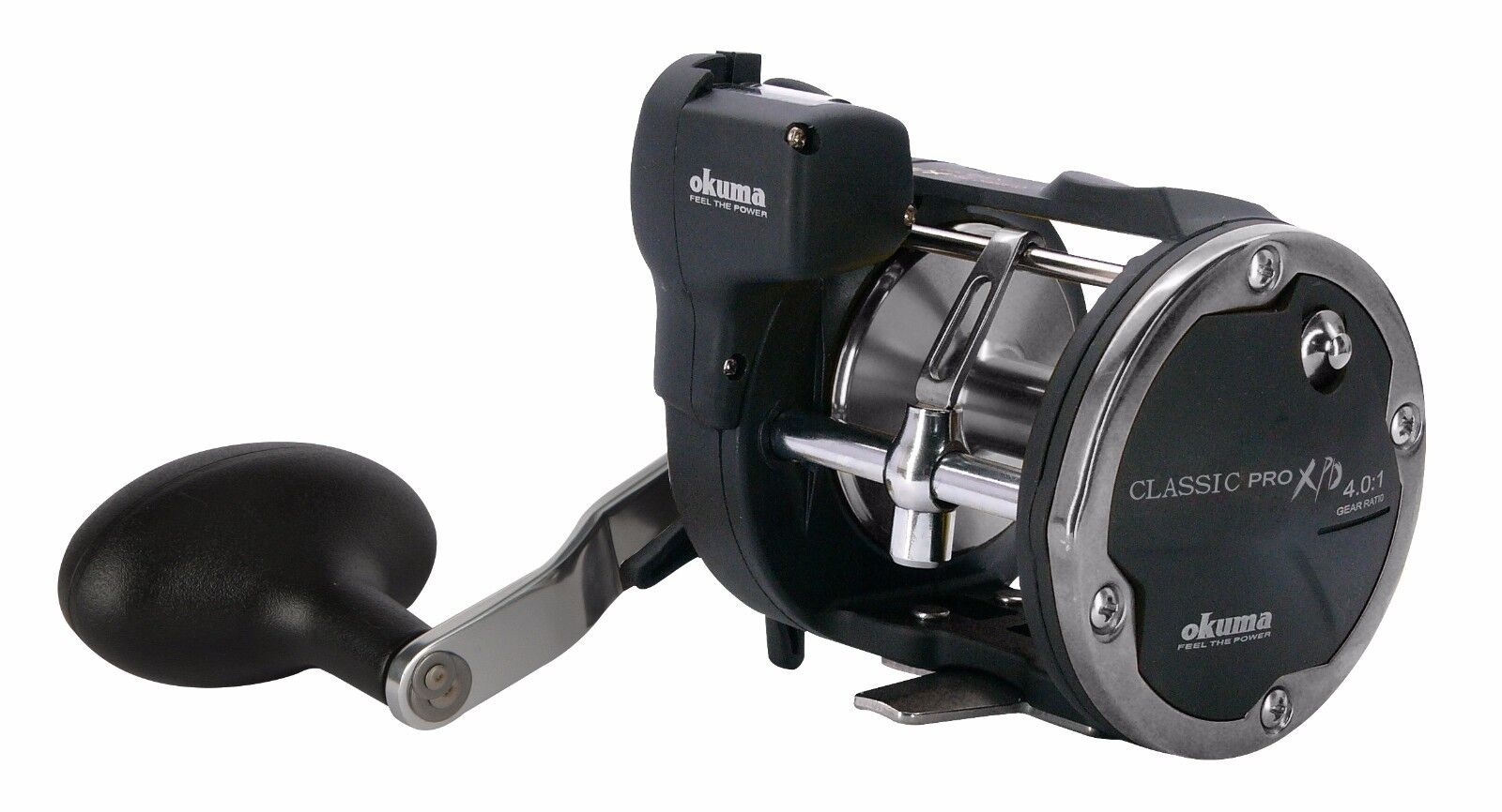 OKUMA CLASSIC PRO XPD-20DLXa LEFT HAND MULTIPLIER REEL COUNTER LEVEL WIND LINE COUNTER REEL fd626a