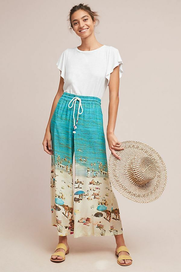 Anthropologie Beach Day Wide-Leg Pants NWT new size XS