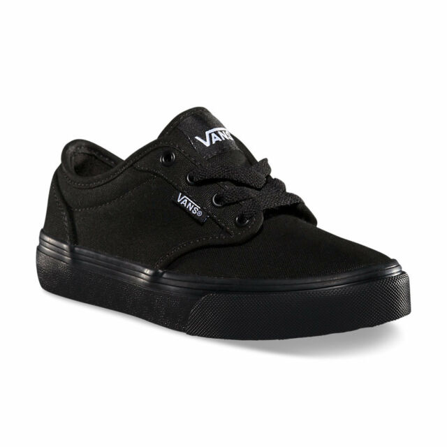 a88b0818f5 Kids Vans Atwood Canvas VN-0KI5186 Black Black 100% Authentic Brand New