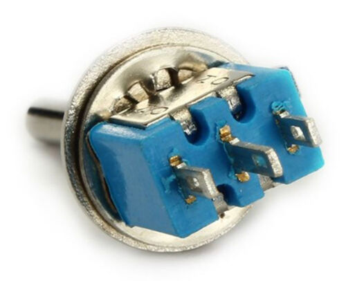 Pair SMTS-102 Sub Mini Toggle Switch SPDT 3-Pin ON//ON 6A 125V 2 Position