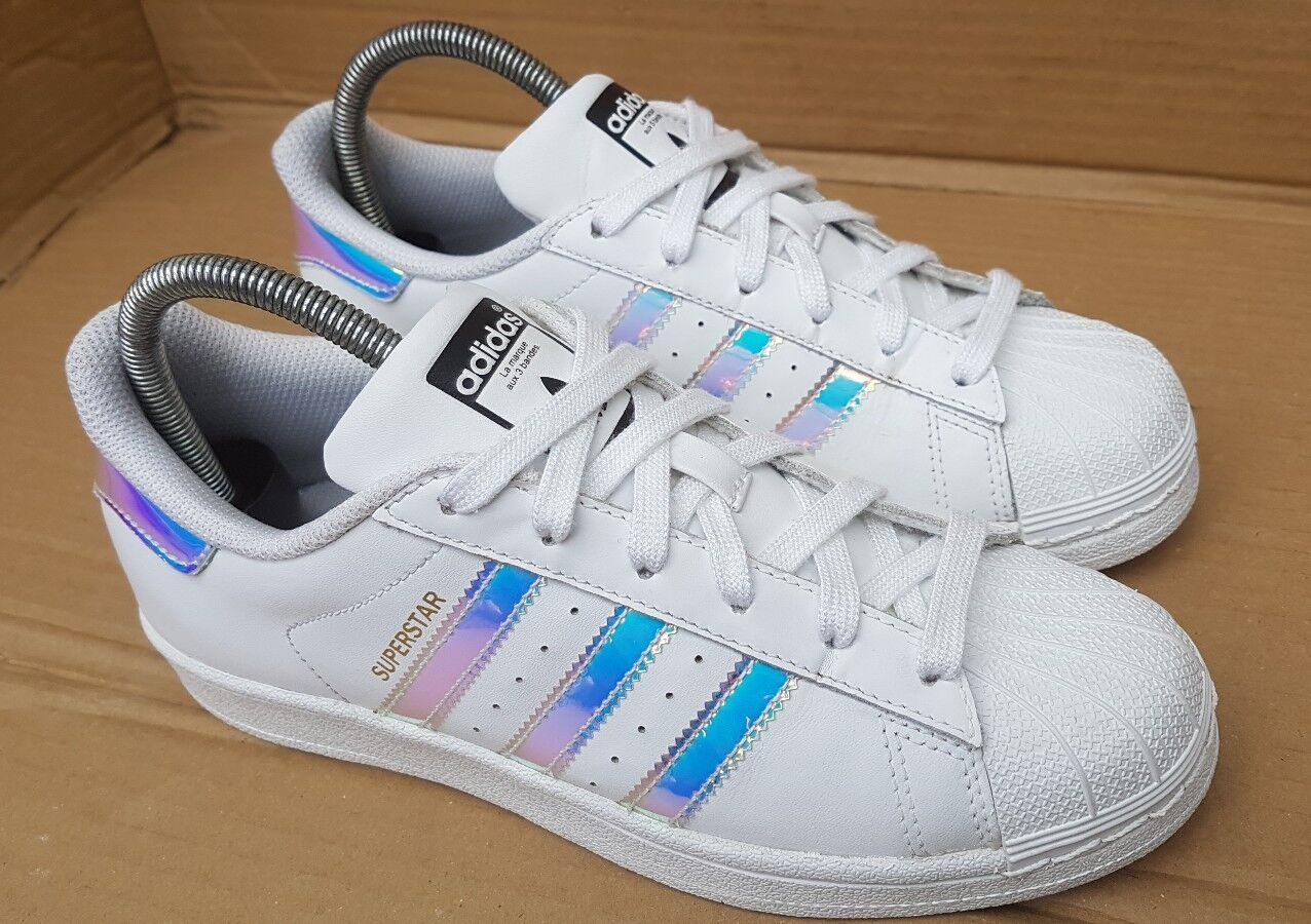 ADIDAS SUPERSTAR HOLOGRAPHIC TRAINERS SIZE CONDITION 5.5 UK DUBAI BLUES V GOOD CONDITION SIZE x 74090f