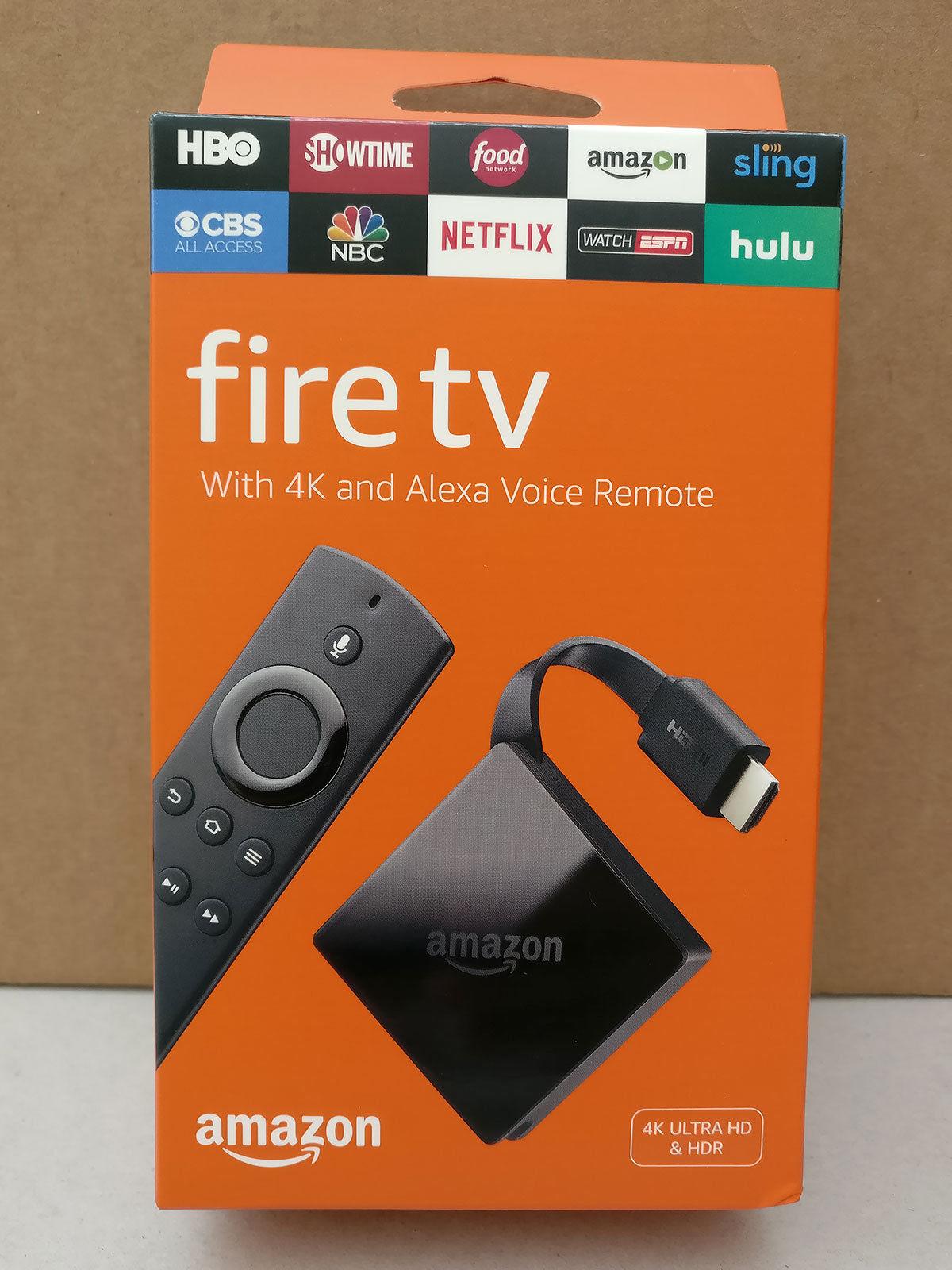 New Sealed Amazon Fire Tv 4k Ultra Hd Streamer Box W Alexa