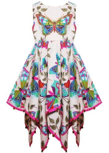Domino Mädchen Blumen Schmetterling Kinder Patchwork Taschentuch Sommer Neu