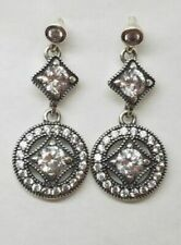 63a5b1ef2 Authentic Pandora Silver Dangle Vintage Allure CZ Earrings 290722CZ W/ POUCH