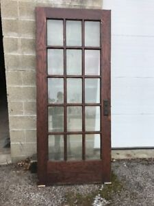 Mar 39 Antique All Beveled Glass Oak French Door 35.75 X 83.25 | eBay