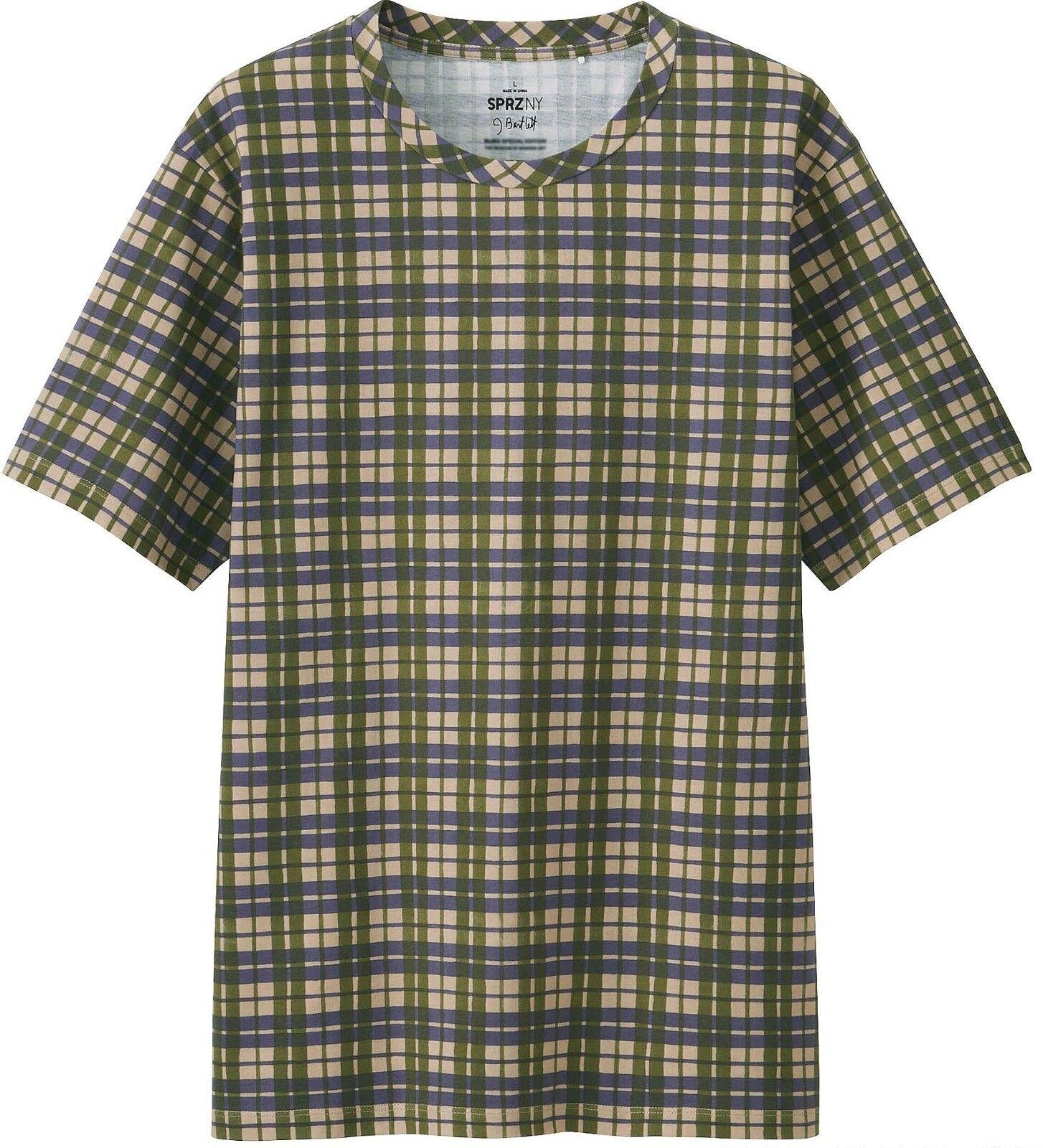 JENNIFER BARTLETT x UNIQLO 'Rhapsody (Green   Purple Plaid)' Art T-Shirt S NWT