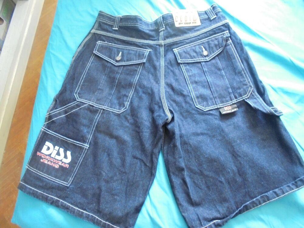 AgréAble Diss Bermuda Workwear Jeans 36x14 Dungarees Hip Hop Qualité SupéRieure (En)