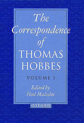 The Correspondence: Volume I: 1622-1659 by Thomas Hobbes (Hardback, 1994)