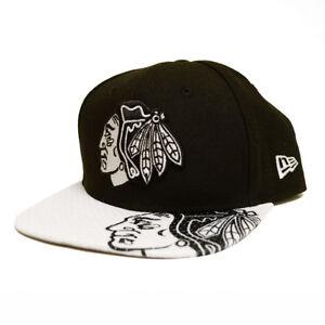 Chicago-Blackhawks-Adult-Gym-Class-Snapback-Cap-Black-Adjustable