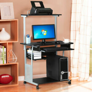 Buy 2 Tier Computer Desk With Printer Shelf Stand Home Office